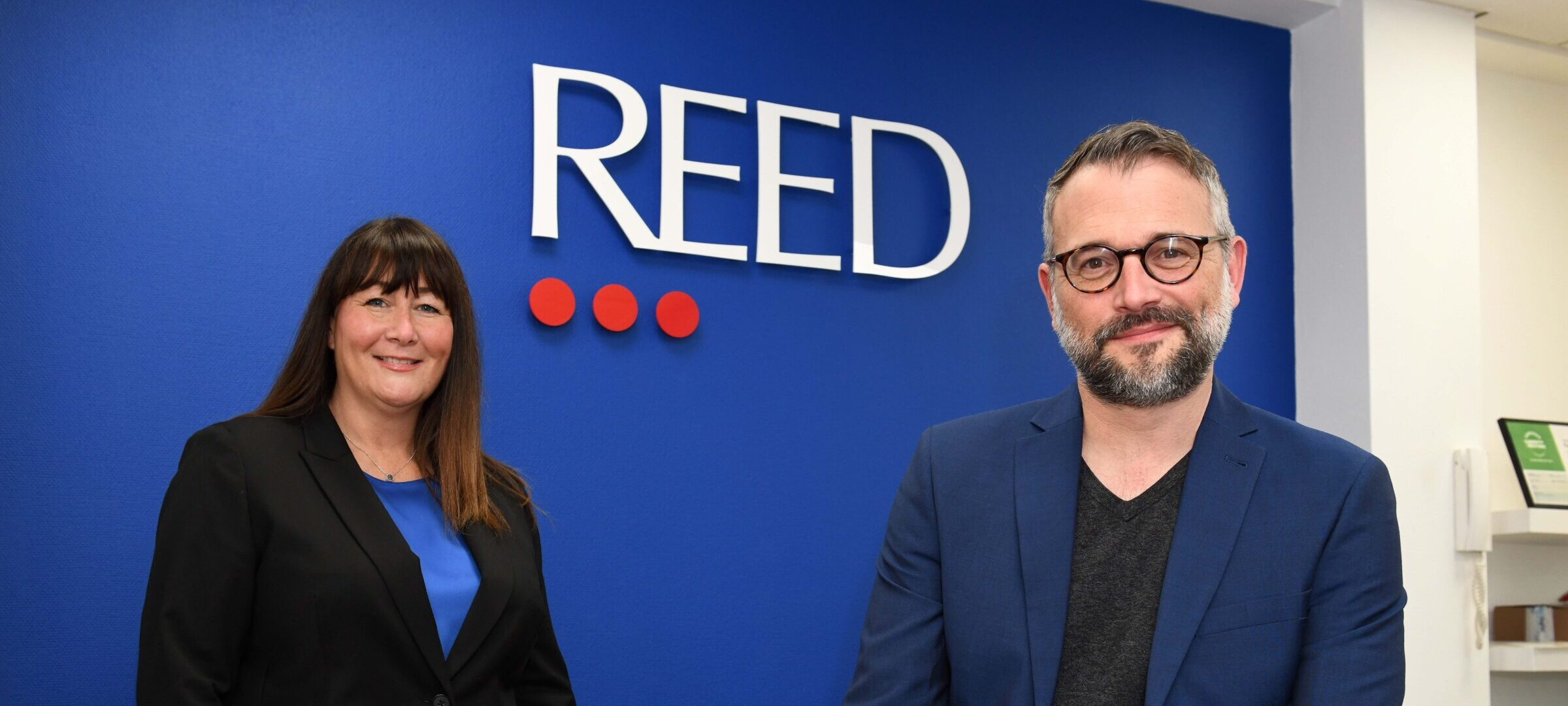 Nicola Whelan from Reed in Partnership and Kieron Goldsborough from Narrative